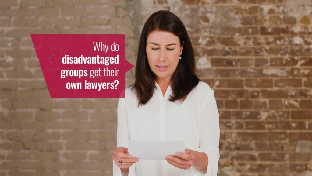 Screenshot from video for Legal Aid NSW's 'What Do You Stand For?' campaign by Messy Collective