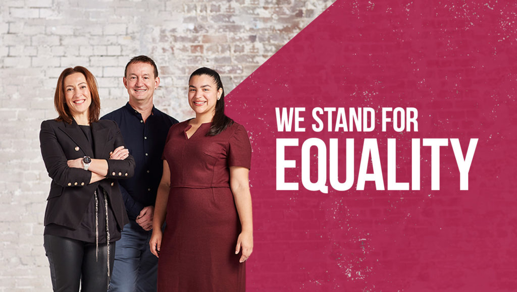 Legal Aid NSW 'We Stand For Equality' Banner by Messy Collective