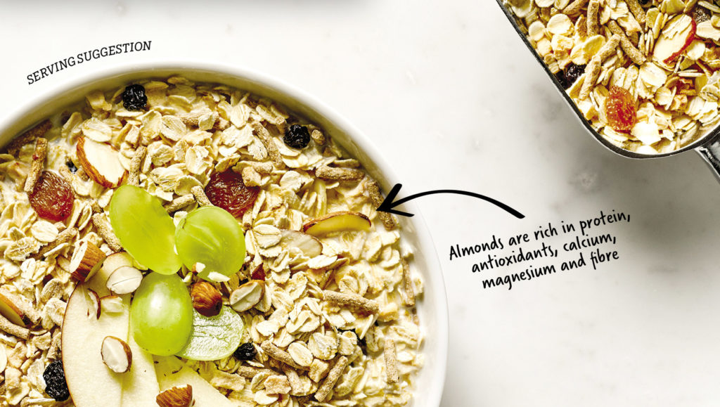 Lowan Swiss Mix Muesli packaging design close-up by Messy Collective