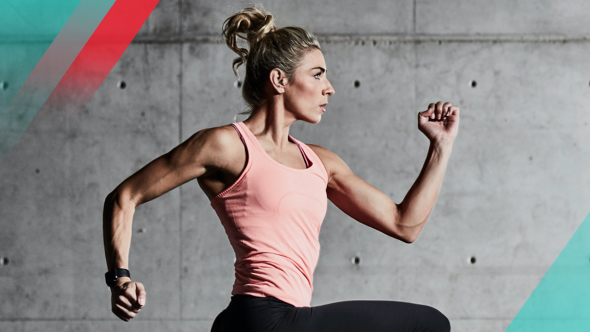 Fitness Australia brand image featuring fit woman running