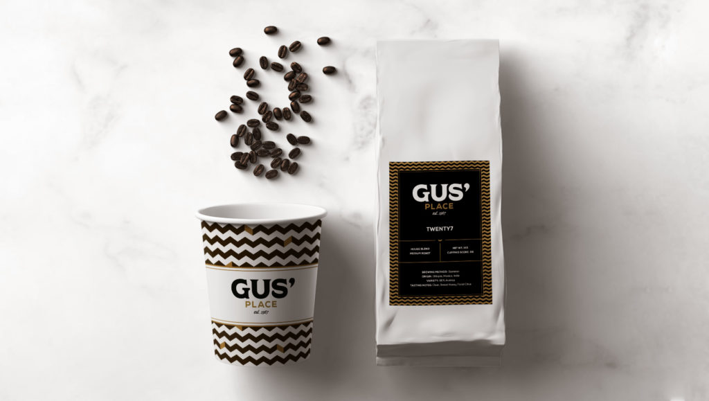 Gus' Place Branding – Coffee Packaging