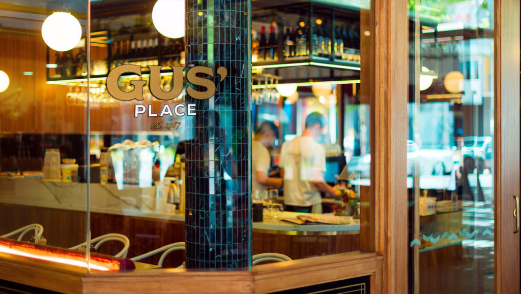 Gus' Place Branding – Window Decal Signage