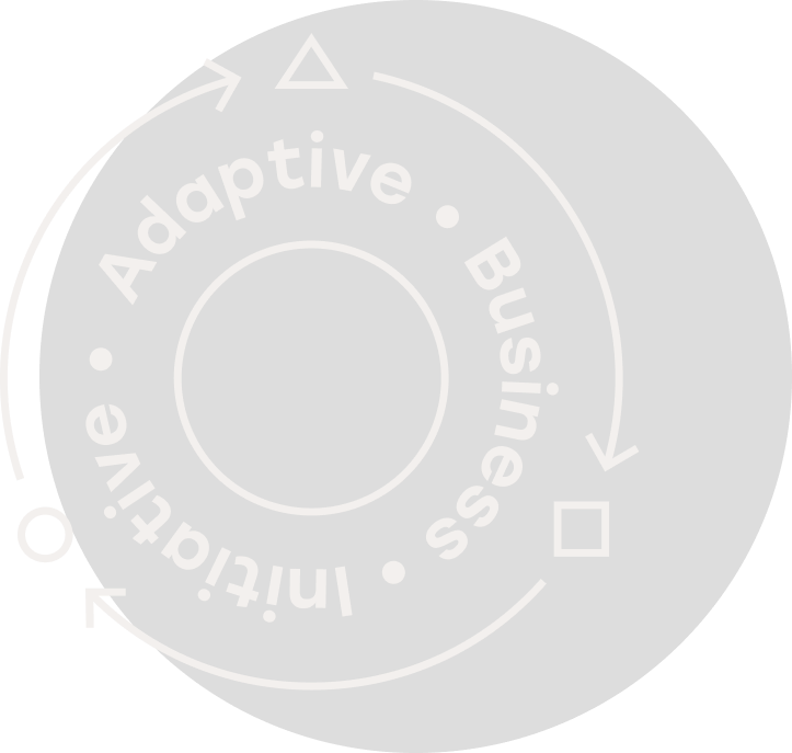 Adaptive Business Initiative logo in white