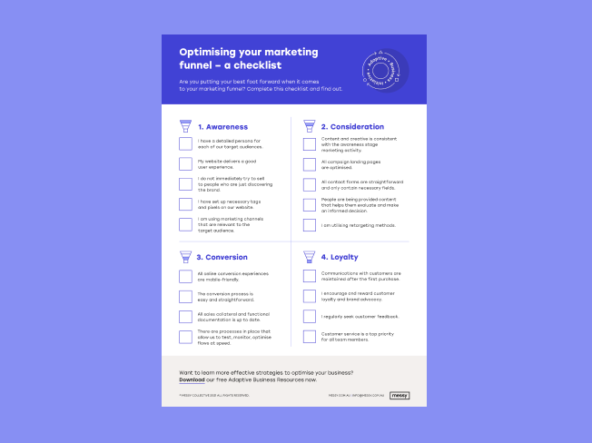 Optimising your marketing funnel checklist thumbnail