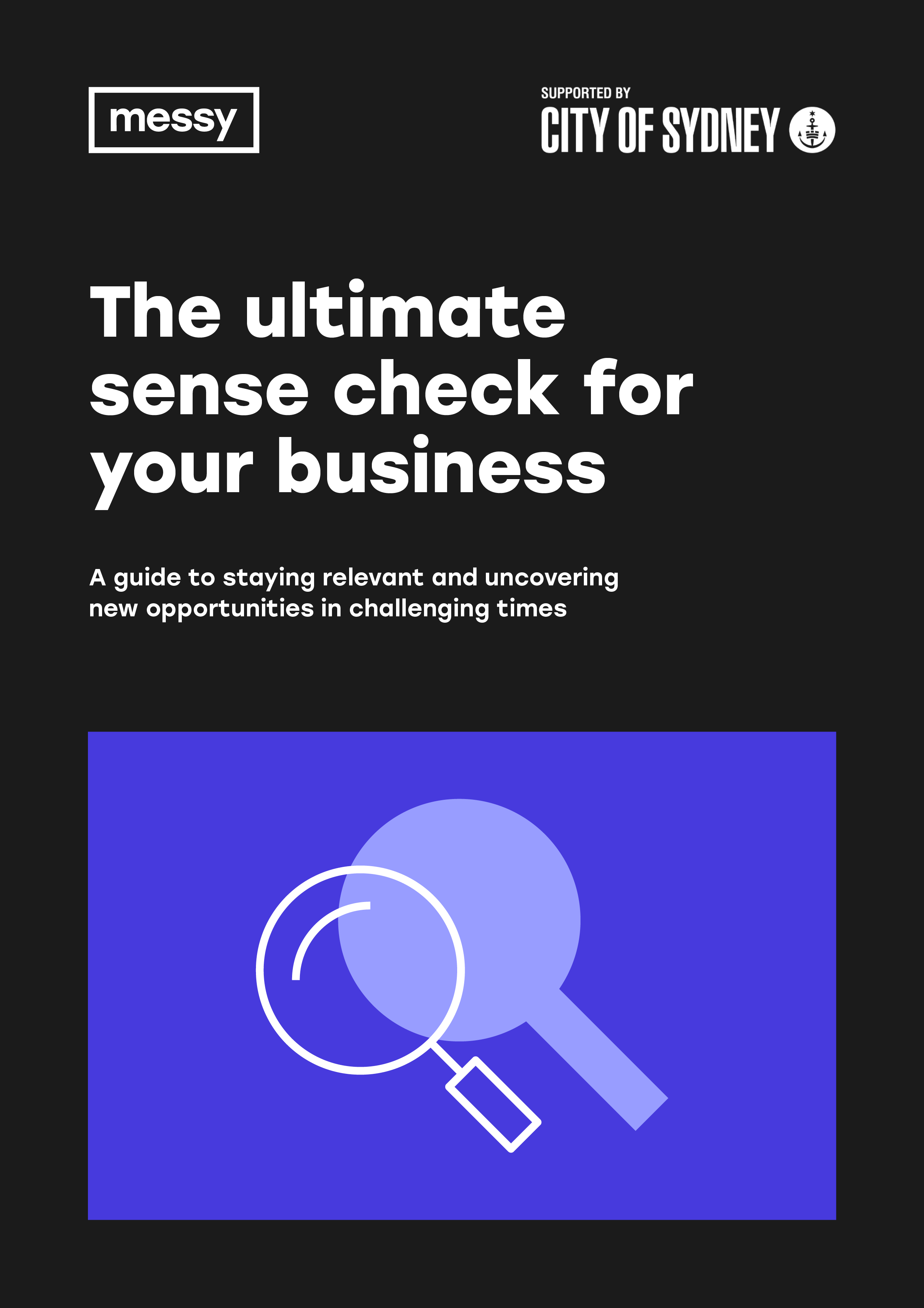 The Ultimate Sense Check for your Business guide cover