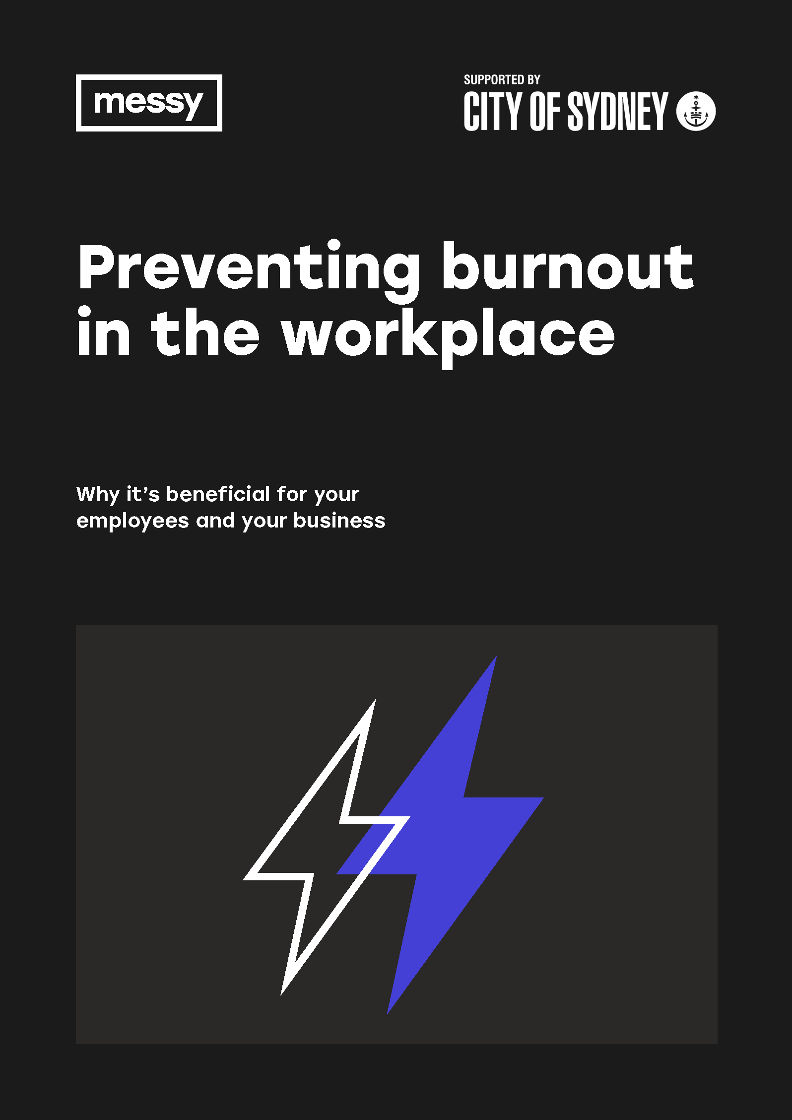 Preventing Burnout in the Workplace guide cover
