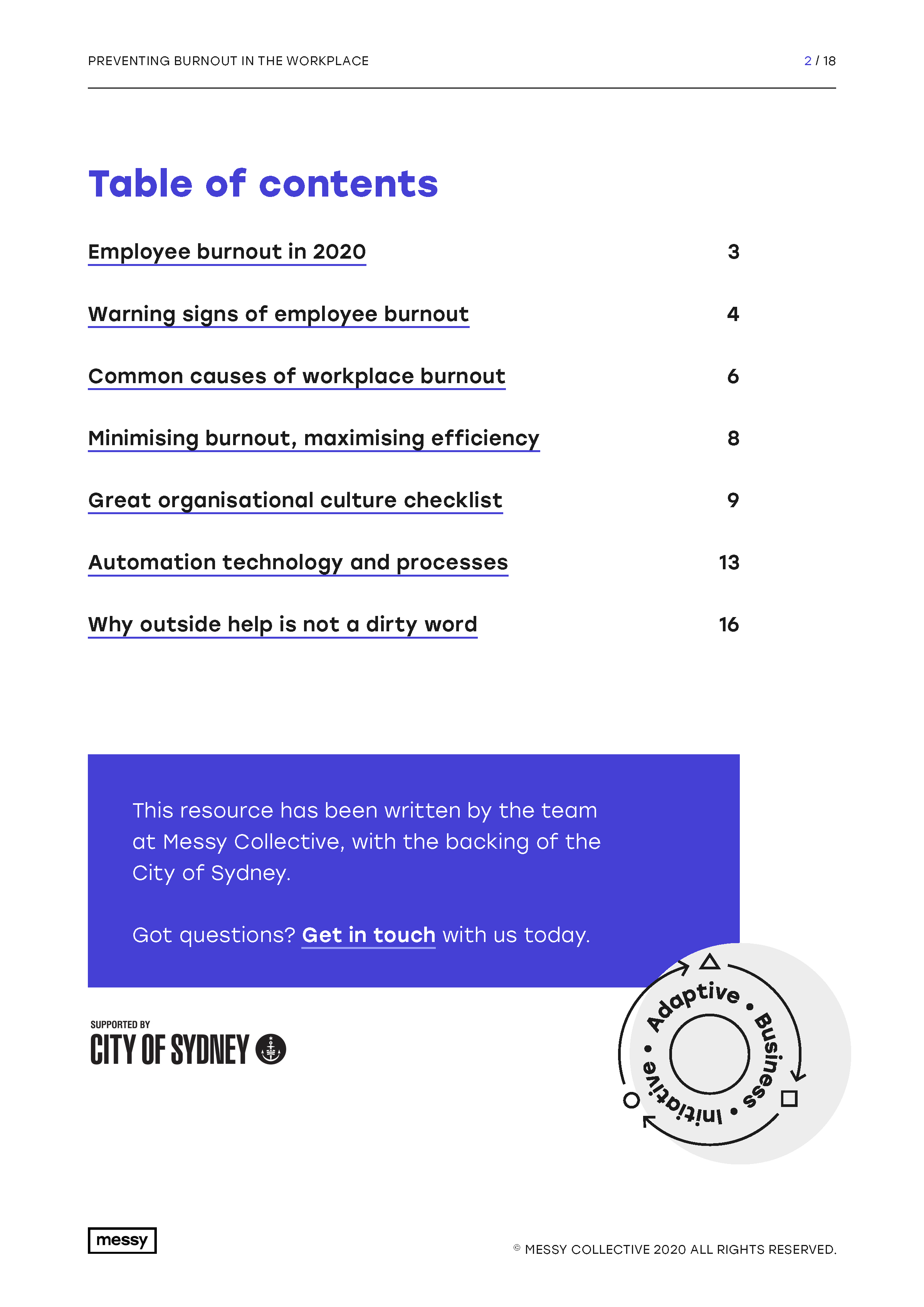 Preventing Burnout in the Workplace guide - page 2