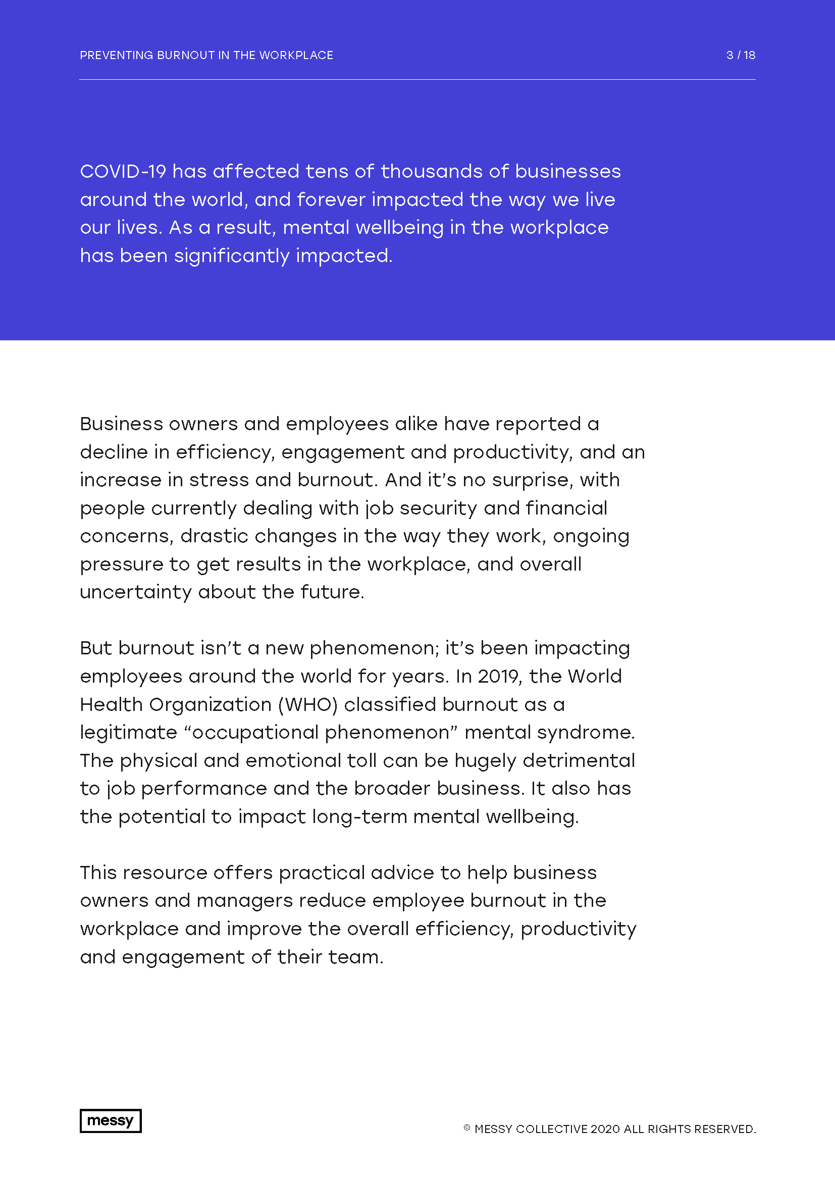 Preventing Burnout in the Workplace guide - page 3