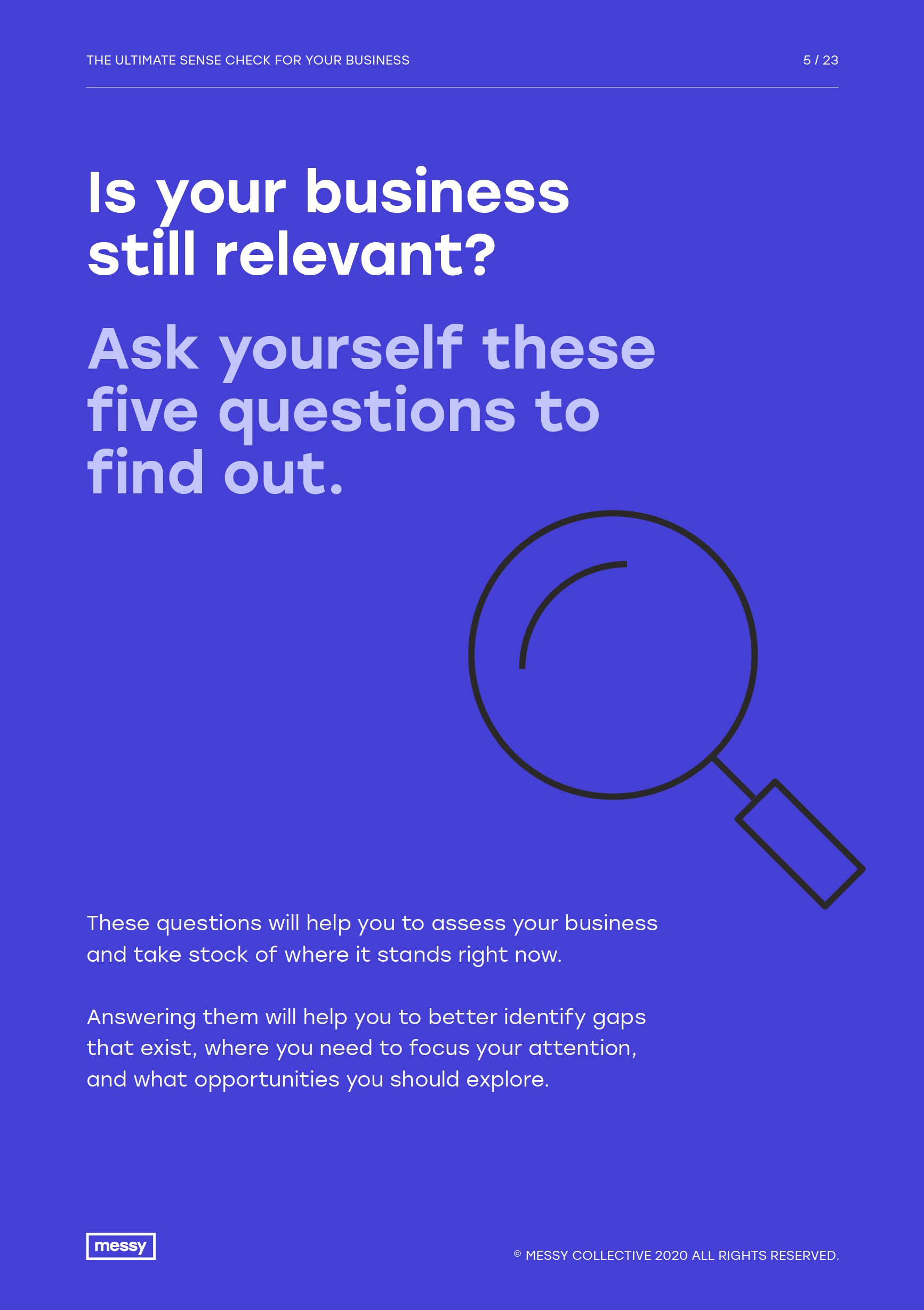 The Ultimate Sense Check for your Business guide - page 5